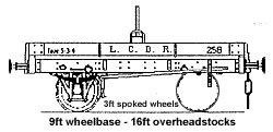 4F05 LCDR Single Bolster Wagon