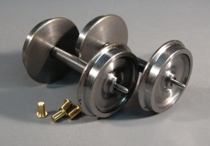7W002P 3ft 7in Coach Disc Wheels COARSE SCALE Two Axle Pack